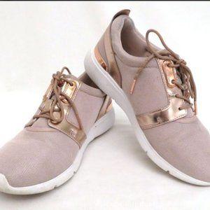 Michael Kors Rose Gold Sneakers Size 7.5